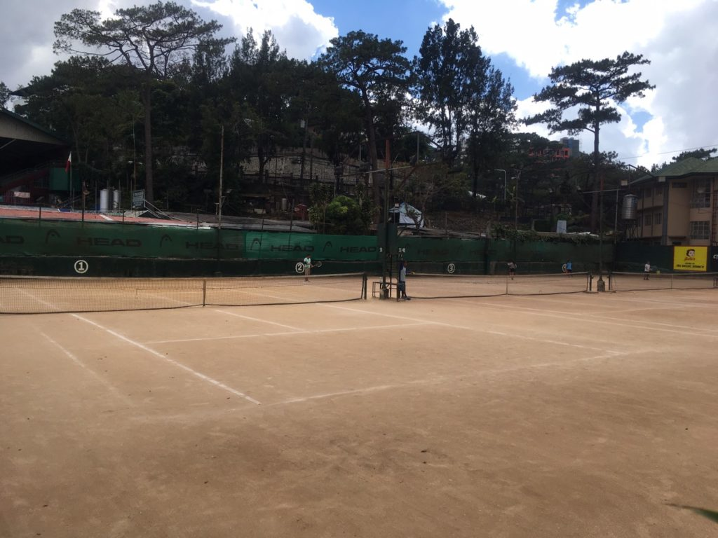 Tennis court in Burnham Park in Baguio Philippines