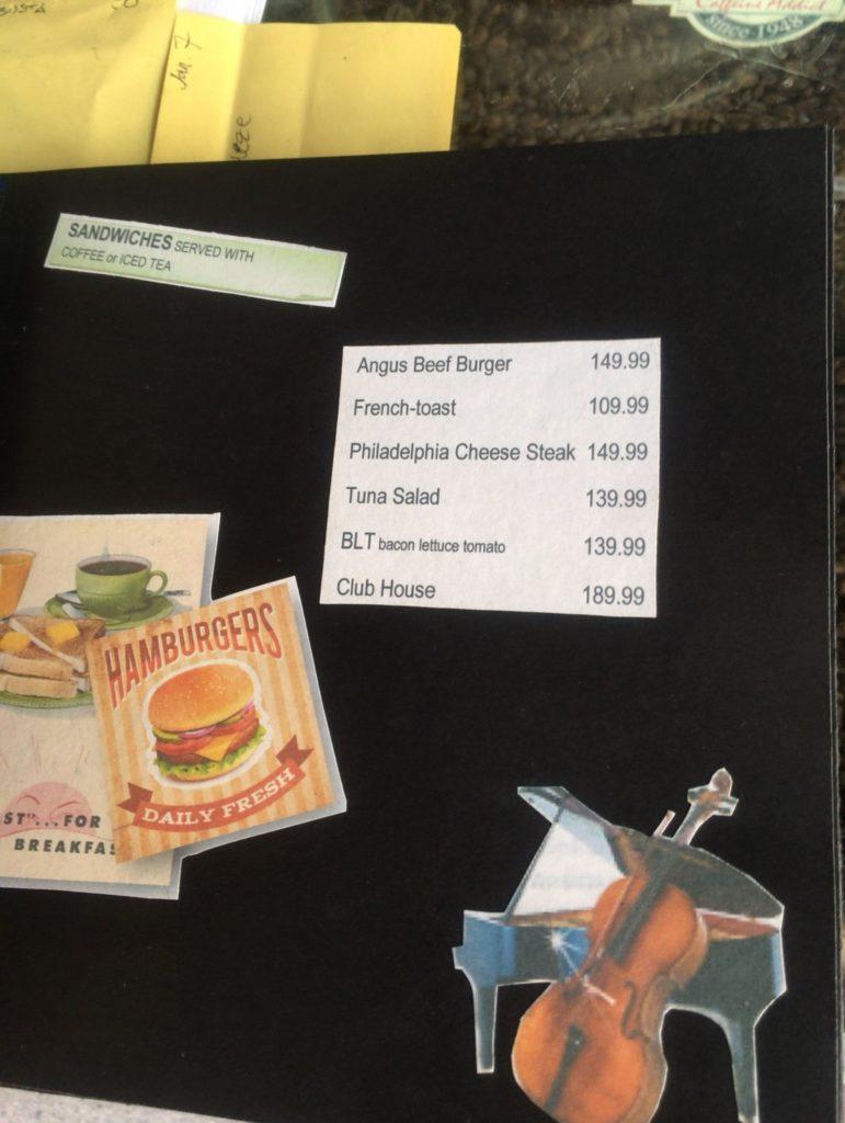 KAPE UMALI cafe in Baguio city menu