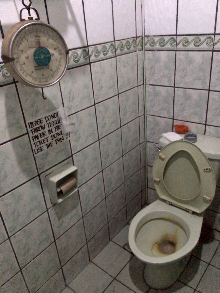 KAPE UMALI cafe in Baguio city toilet