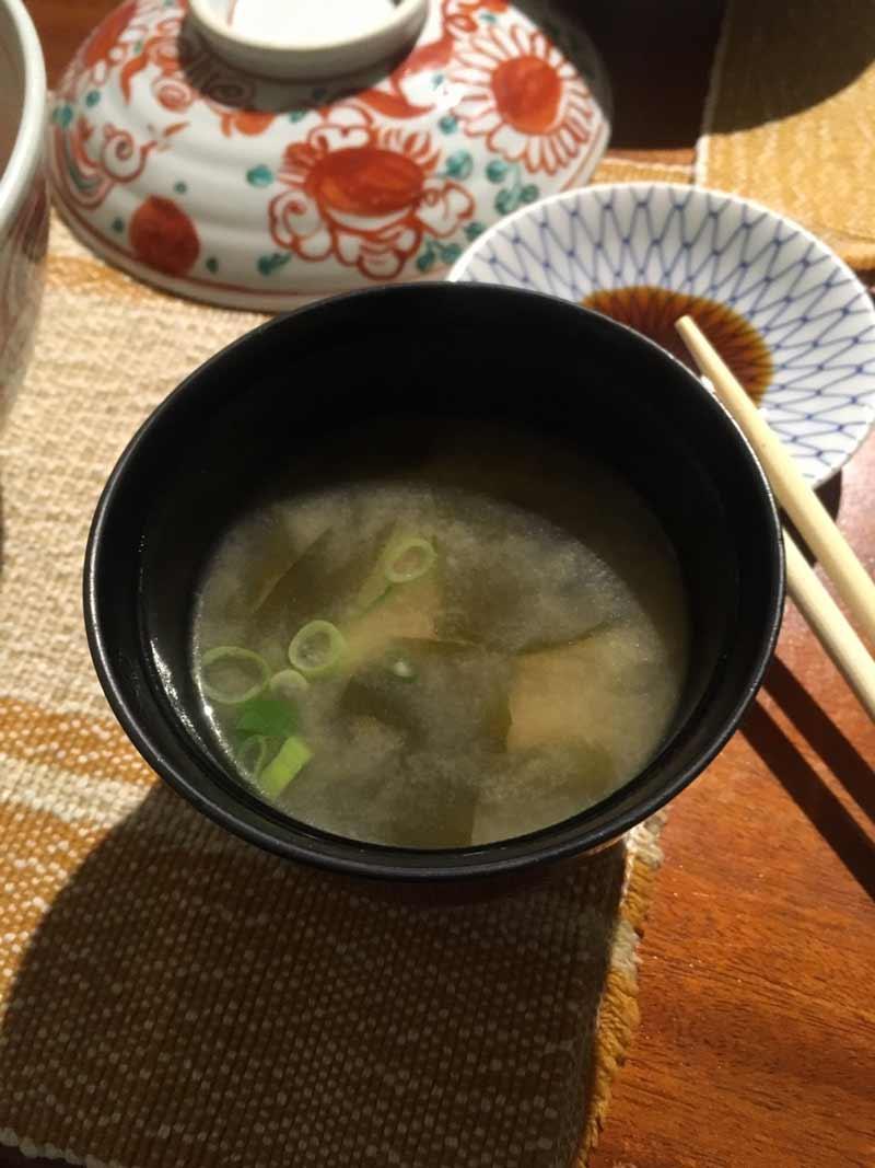 バギオで人気の日本食レストラン味噌汁