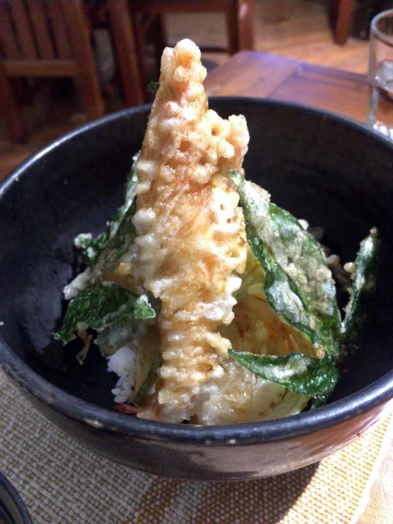 バギオで人気の日本食レストラン天丼