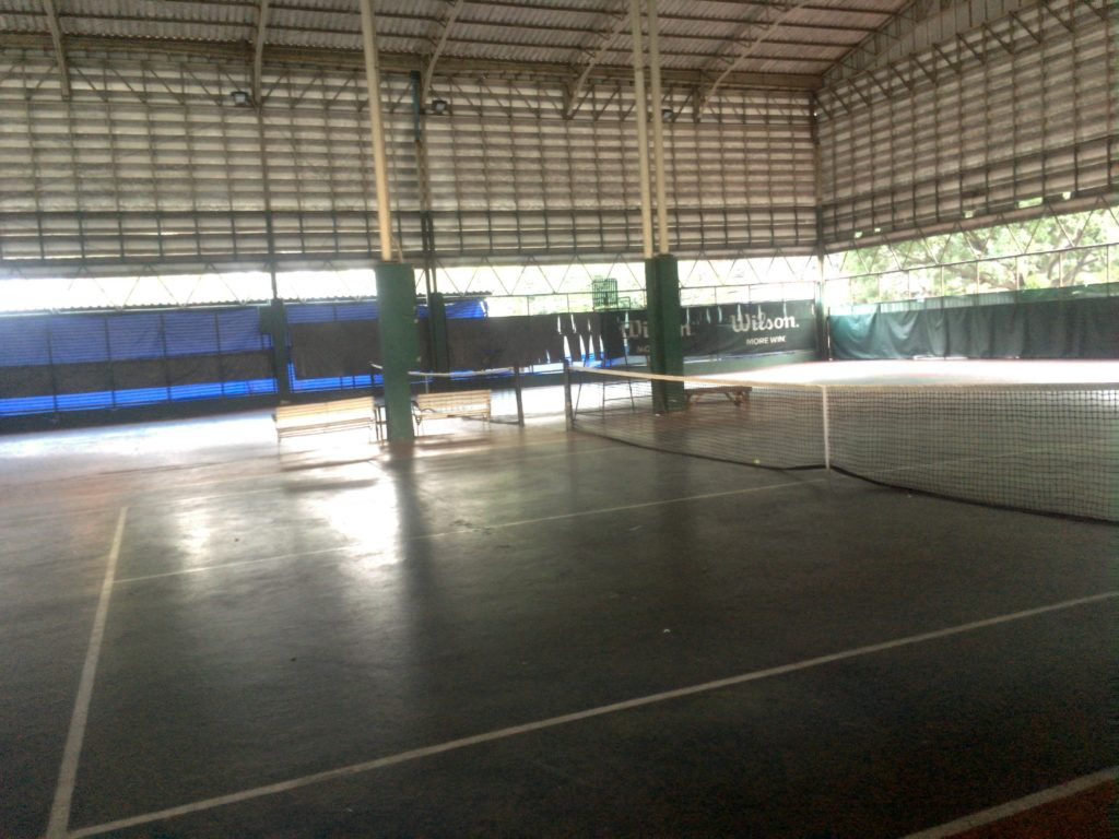 indoor tennis court in Bangkok