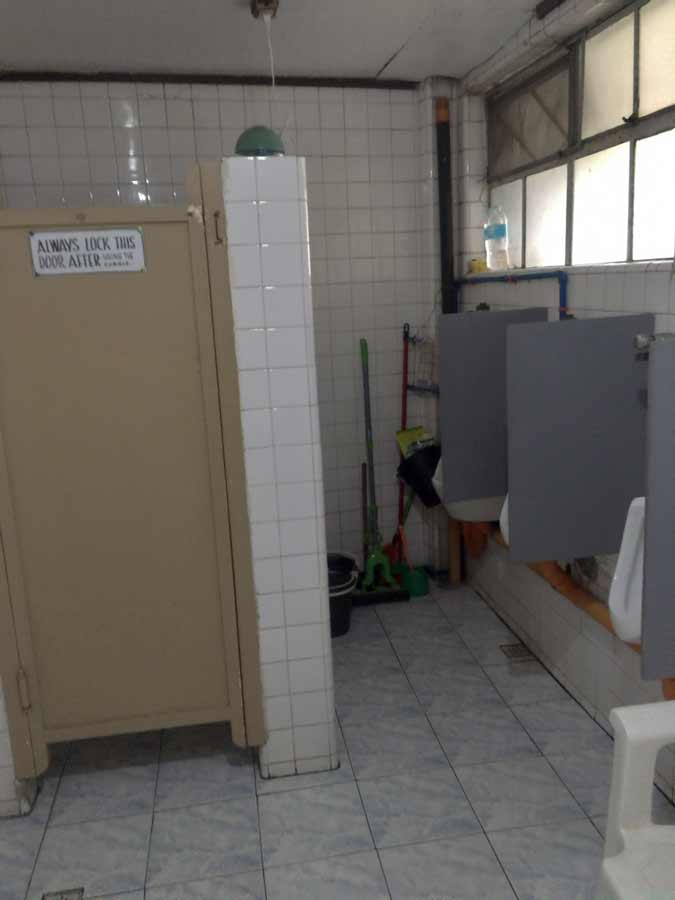 Fitness gym in Baguio Philippines toilet