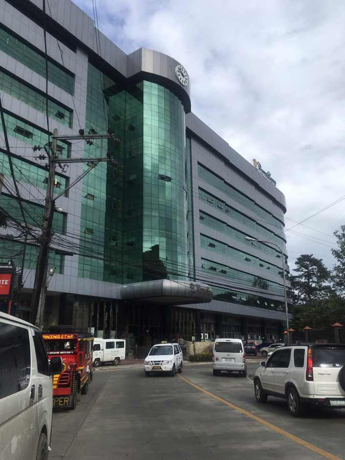 Fitness gym in Baguio Philippines entrance