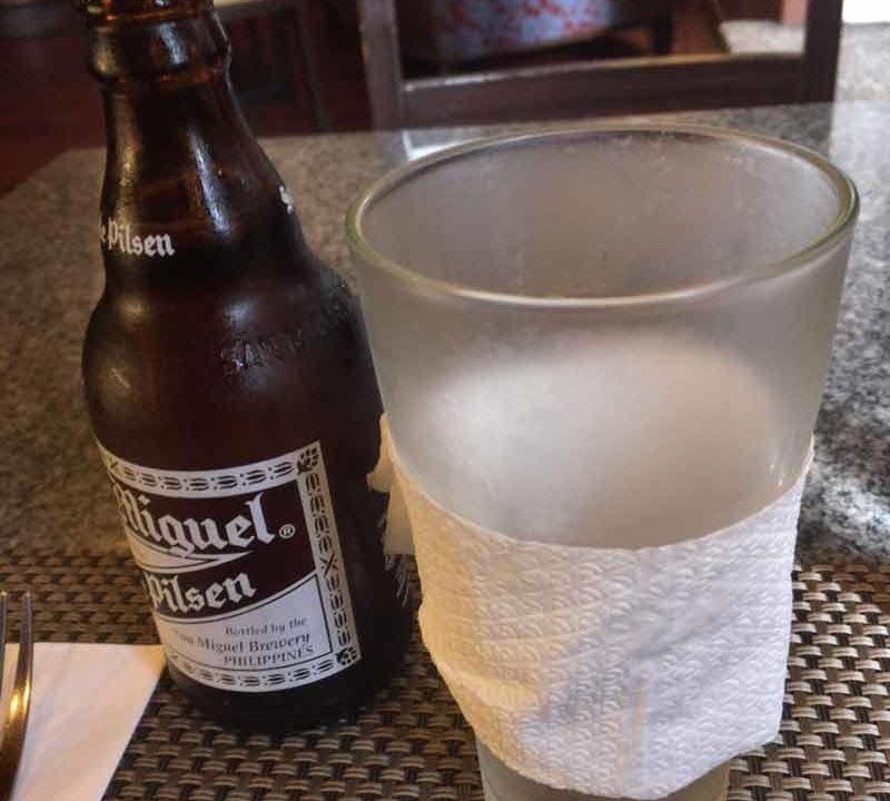 バギオの高級レストランHill Station ビール