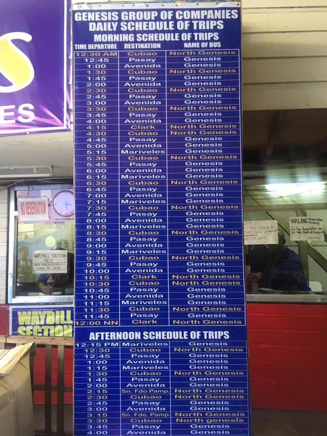 Genesis Bus terminal in Baguio