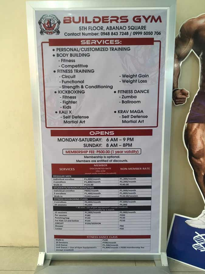 Fitness gym in ABANAO SQUSRE Baguio Philippines