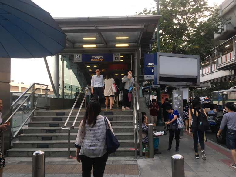 ドンムアン空港からBTSモーチット駅へ