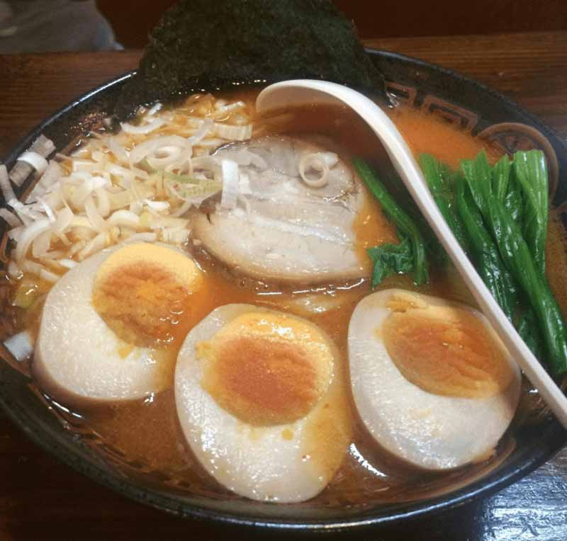 仙台釜神屋の濃厚味噌ラーメン
