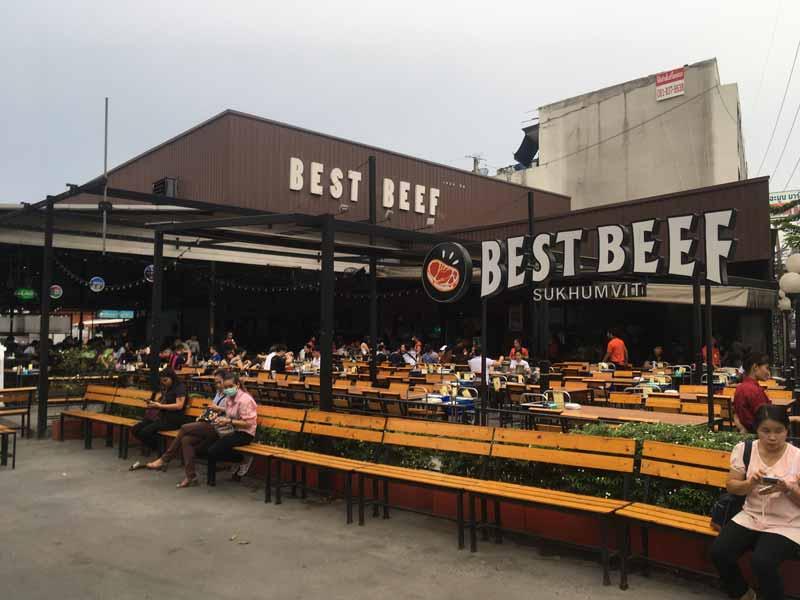 オンヌット駅近くの焼き肉食べ放題ベストビーフ