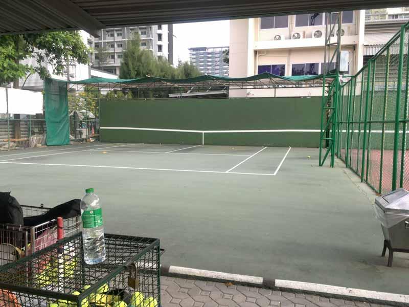チュラロンコン大学のテニスコート