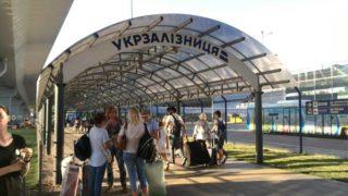 キエフの空港から市街まで