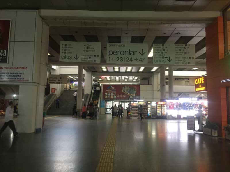アンカラのバスターミナル