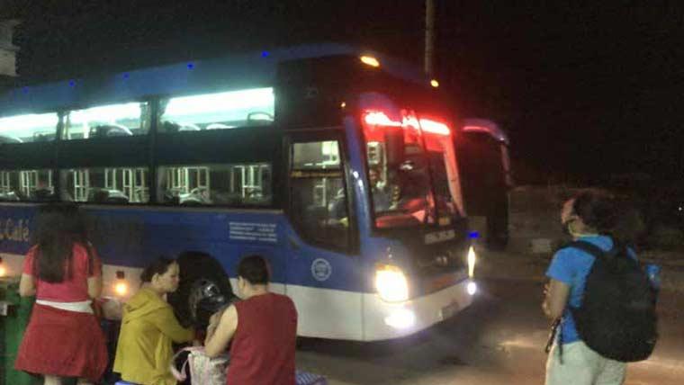 ニャチャンからホイアンまでの寝台バス