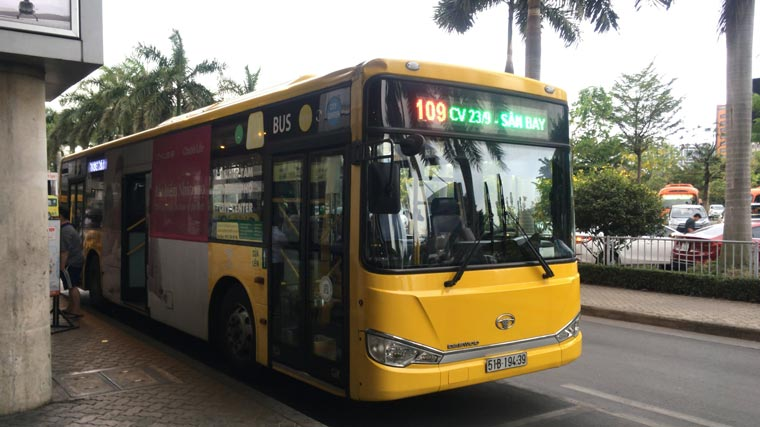 ホーチミンの空港バス