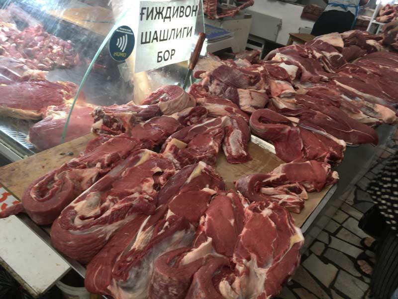 チョルス-バザールのお肉屋さん