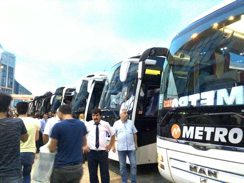 カッパドキア行きのバス