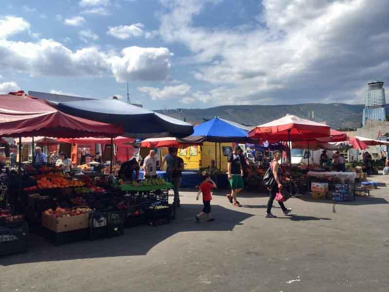 トビリシの市場