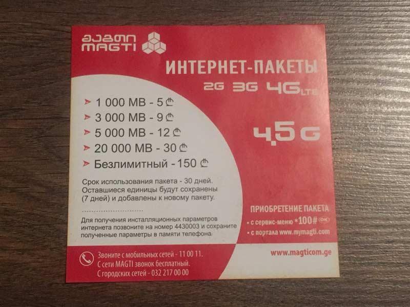 SIMカードのプラン