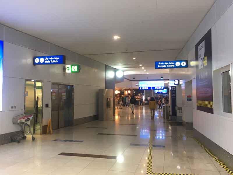 ドバイ空港の無料シャワー