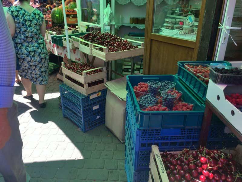 リヴィウのフラワーマーケット