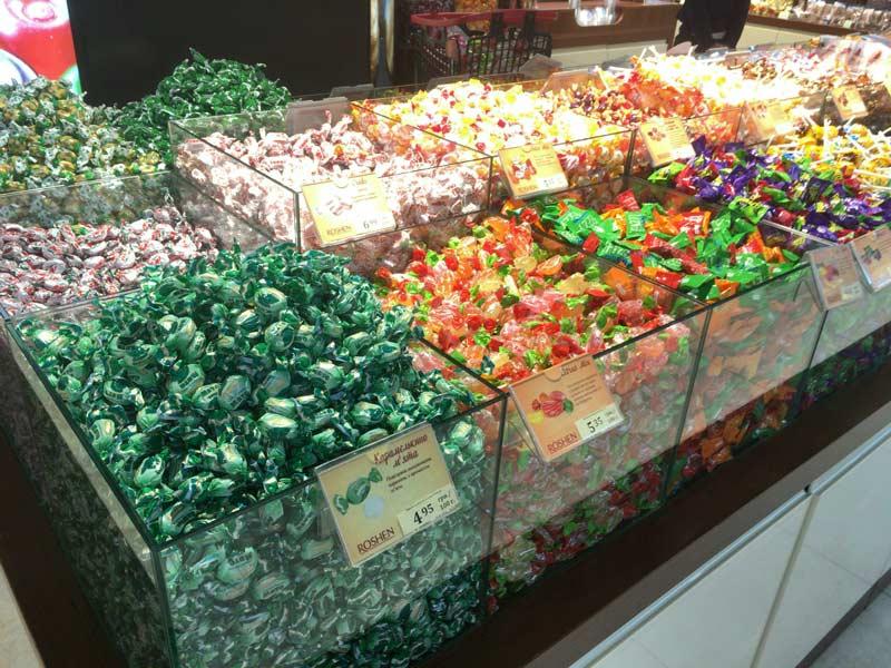 ロシェンのお菓子売り場