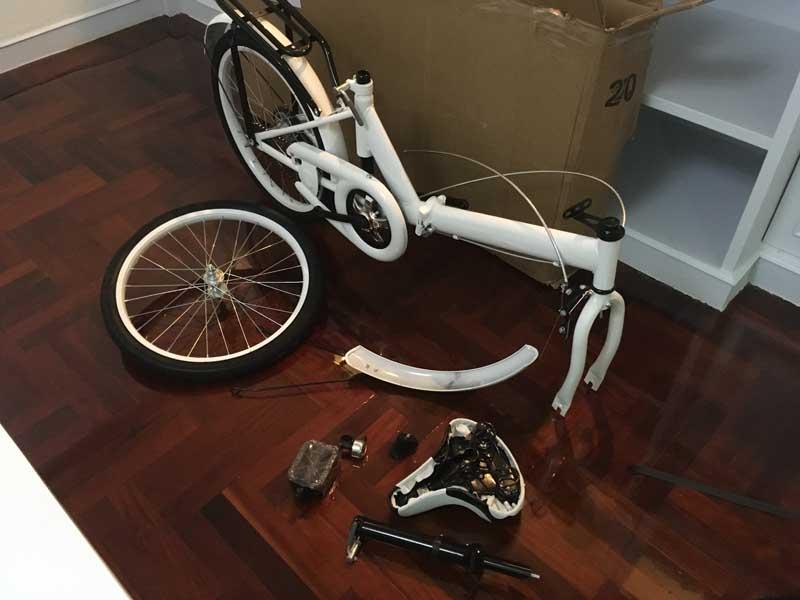 自転車をLazadaで購入