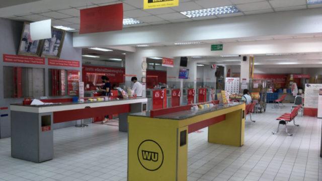 プラカノン郵便局で関税の支払い