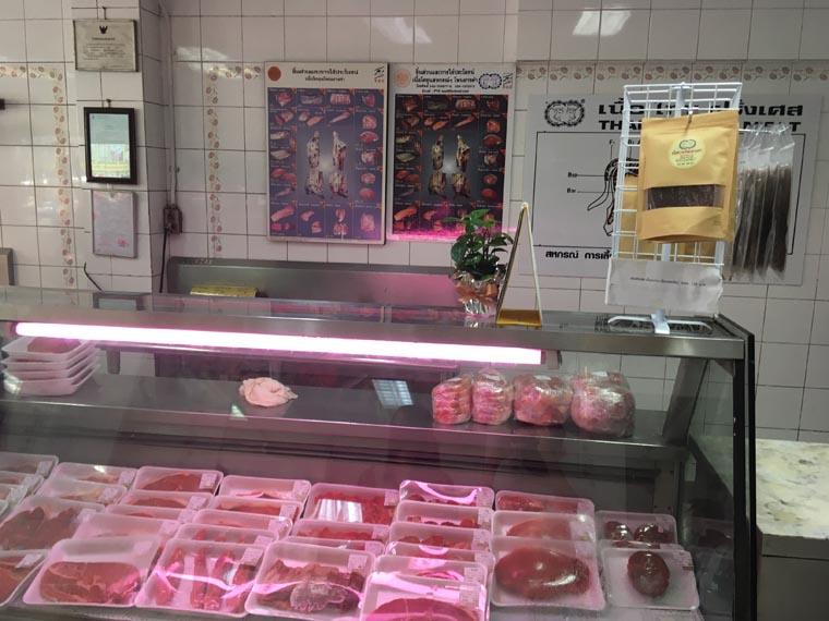 バンコク・プロンポンのお肉屋さん
